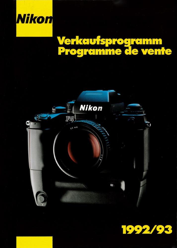 Verkaufsprogramm 1992/93